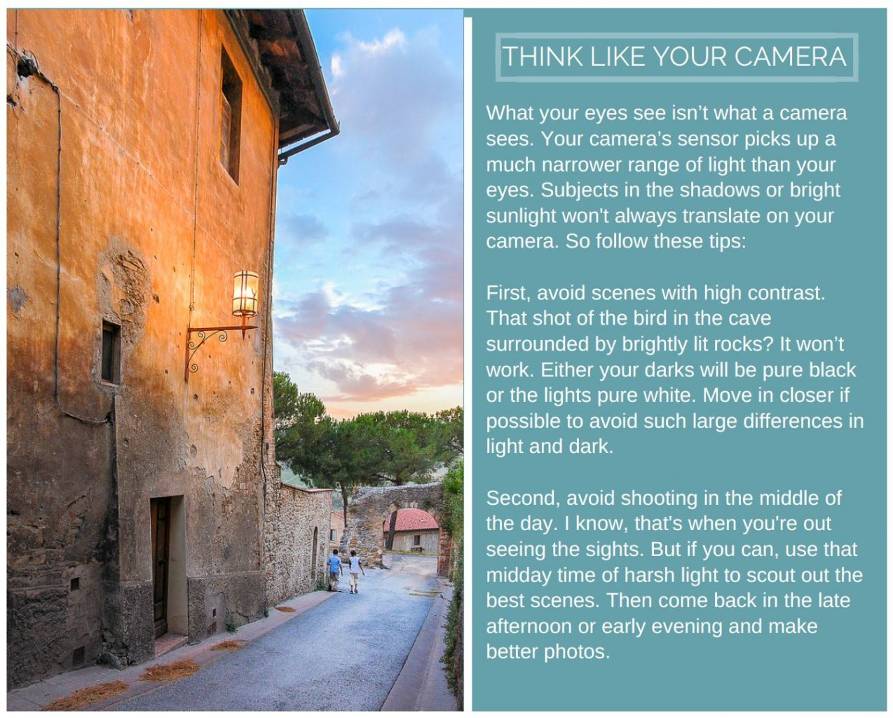 Photo Guide - Think like your camera
