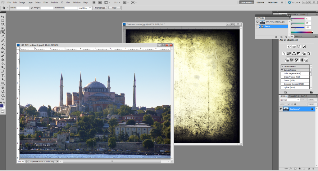 How to use textures in Photoshop: Floating tiles in Photoshop