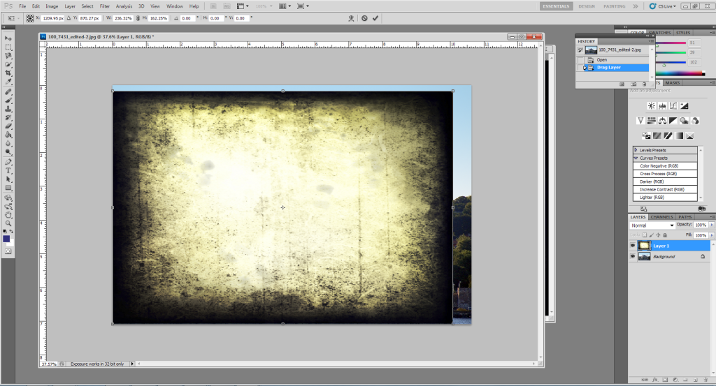 How to use textures in Photoshop: Using Free Transform