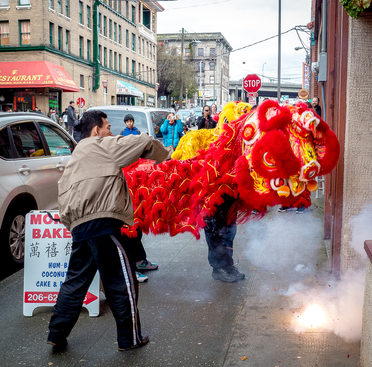 Discover hidden worlds in your own neighborhood like this scene from Seattle's Chinatown