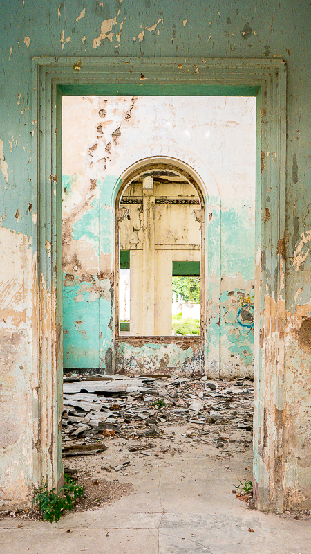 Why ruins fascinate us: Doorway of Hospital San Juan de Dios, Granada, Nicaragua