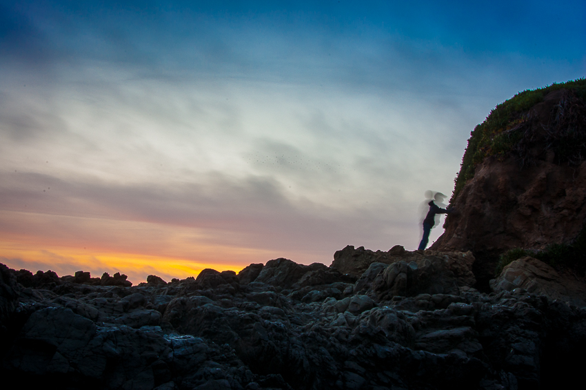 How to take better sunset photographs - rock climbing at sunset