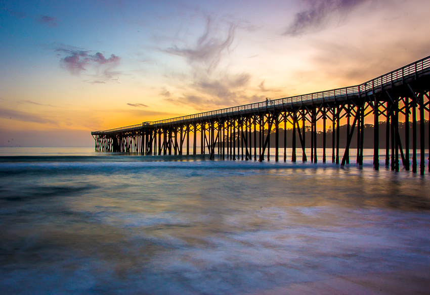 How to take better sunset photographs - sunset and pier