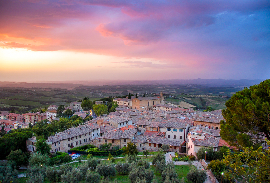 Travel: San Gimignano sunset