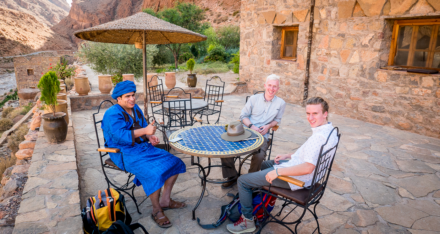Hiring a great local guide: Abdul and boys