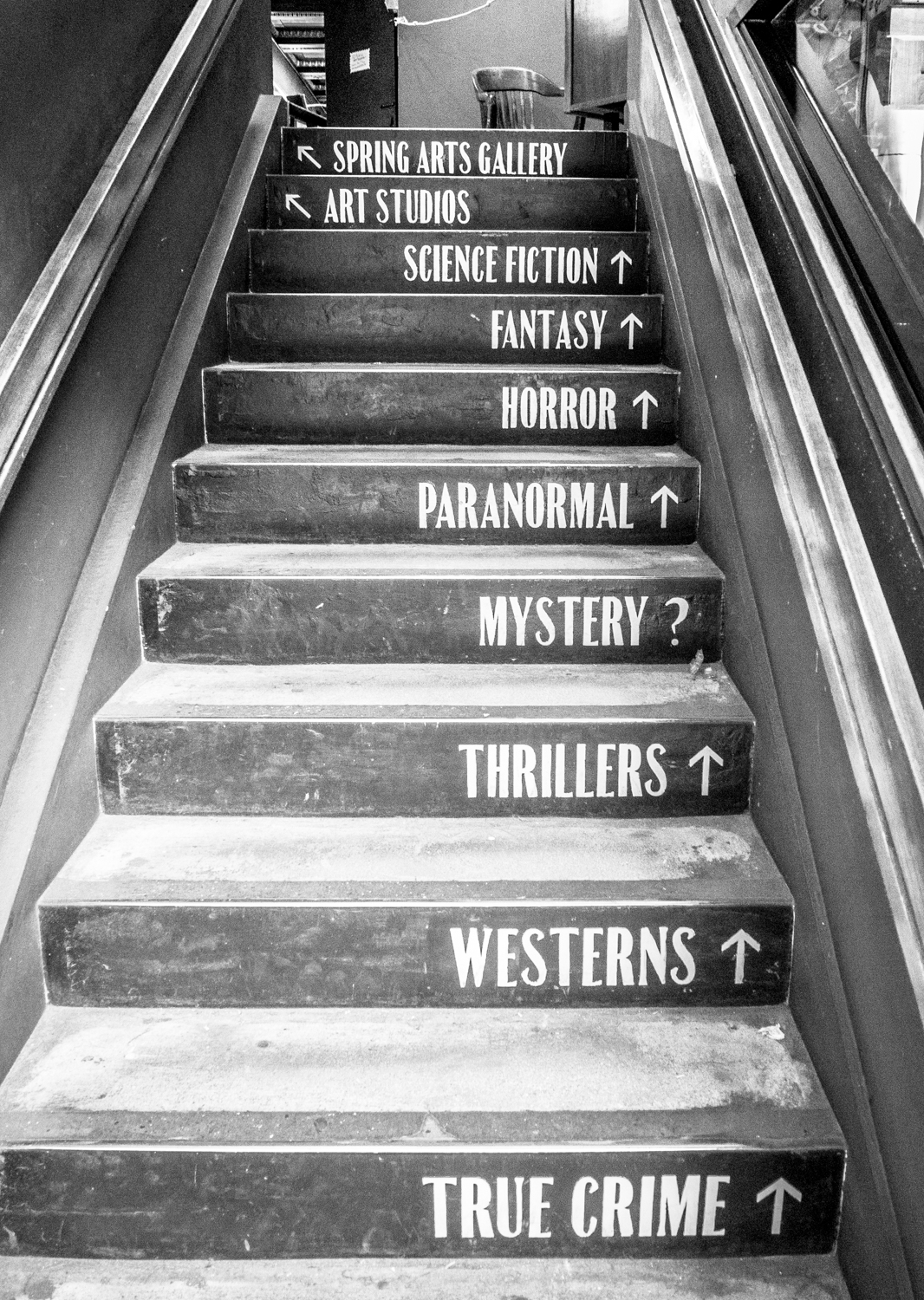 The photographer's DIY walking tour of downtown LA - Last Bookstore stairs
